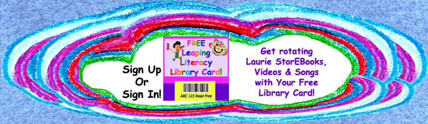 Leaping Literacy Library Sign Up Card